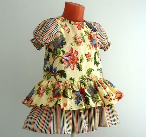 Детское платье из перкаля