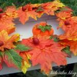 Картина-рамка из осенних листьев своими руками