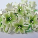 как сделать бусины-цветы из полимерной глины