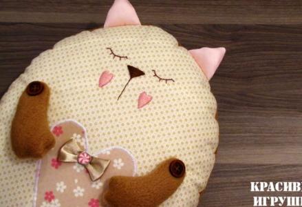 Сшить подушку-игрушку