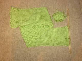 связать шарф спицами